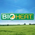 The BioHeat logo with a grassfield in the background