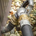 A oil tank fill pipe