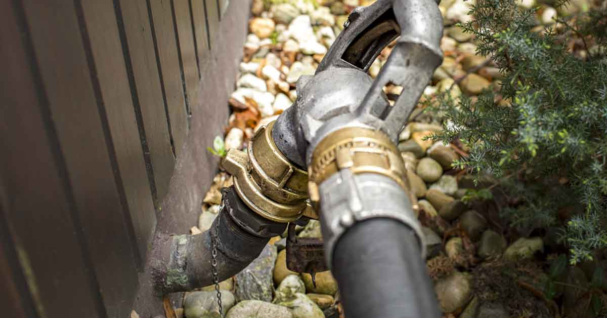 oil tank fill pipe