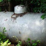 An old oil tank