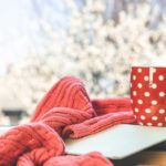 A red sweater and cup