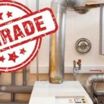 """Image of a oil heating system with the words """"Upgrade""""."""